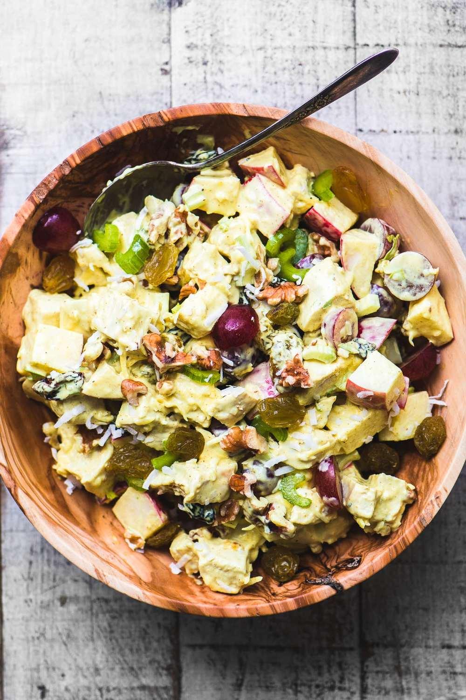 Curried Chicken Waldorf Salad Recipe | HeyFood — heyfoodapp.com