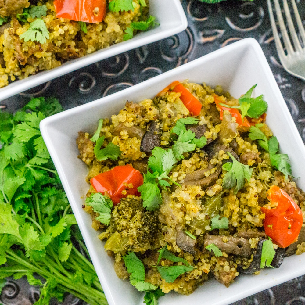 Instant Pot Quinoa with Sausage and Vegetables Recipe | HeyFood — heyfoodapp.com