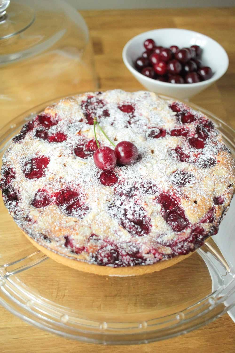 Cherry, Almond and Amaretto Tart Recipe | HeyFood — heyfoodapp.com