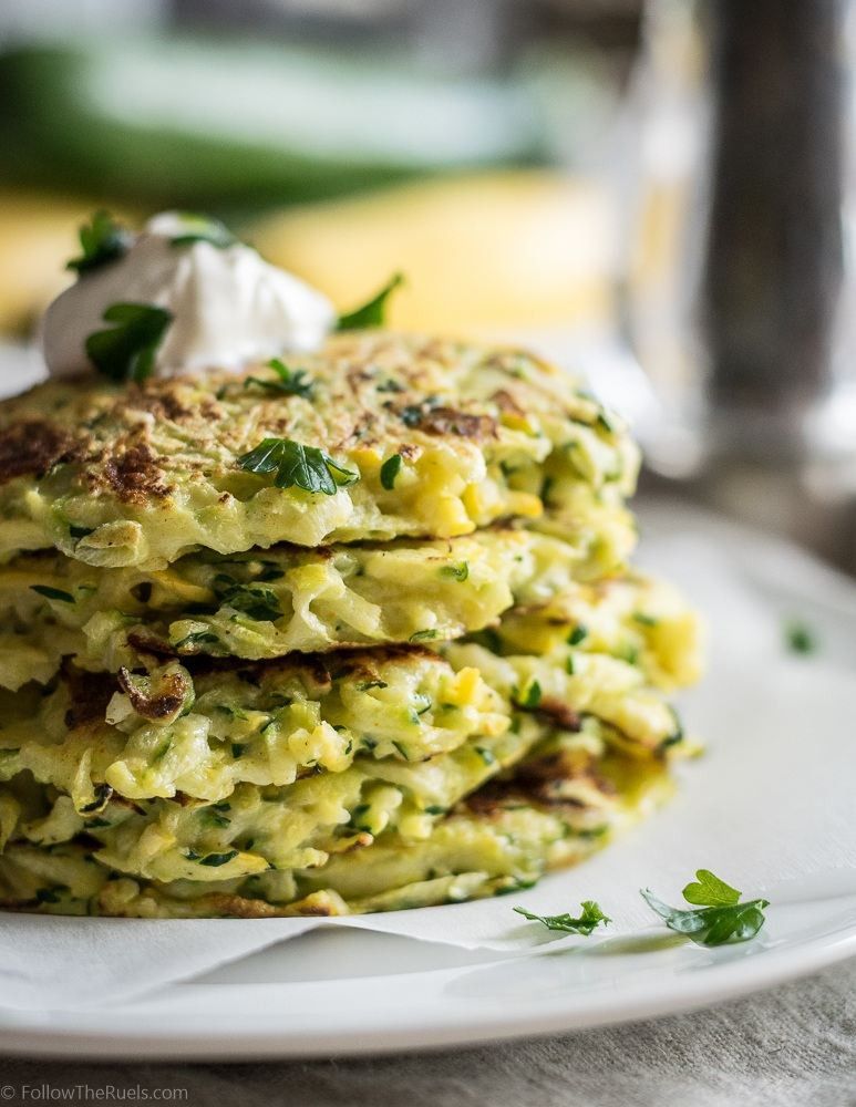 Zucchini Squash Fritters Recipe   HeyFood — heyfoodapp.com