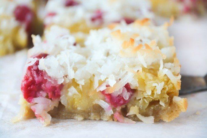 Raspberry Coconut Bars Recipe | HeyFood — heyfoodapp.com