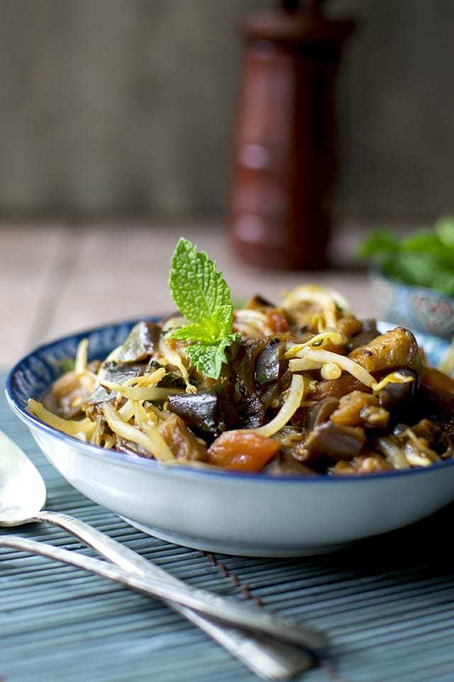 Laotian Eggplant with Tomatoes Recipe | HeyFood — heyfoodapp.com