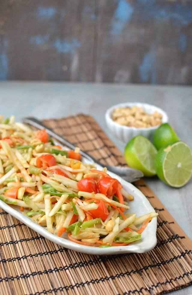 Thai Green Papaya Salad (Vegan Recipe) Recipe   HeyFood — heyfoodapp.com