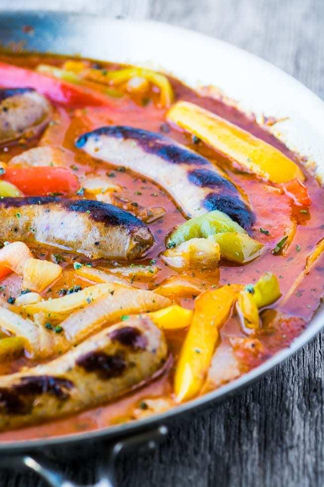 Easy Sausage and Peppers Recipe Recipe | HeyFood — heyfoodapp.com