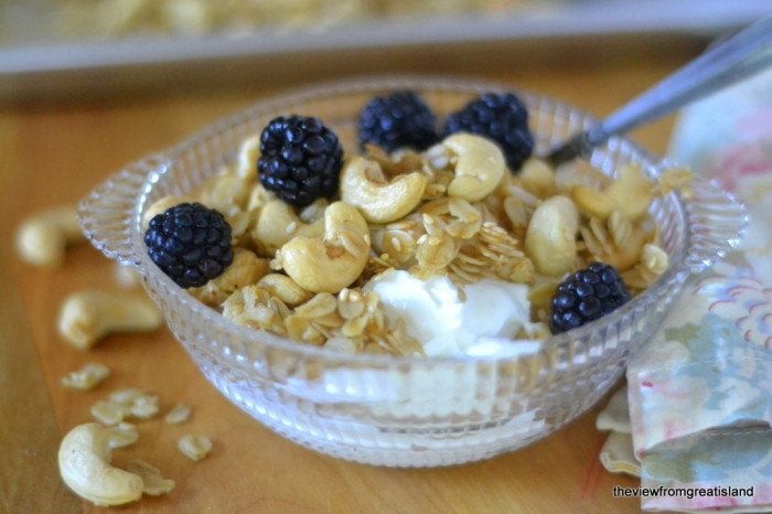 Warm Cashew Granola Recipe | HeyFood — heyfoodapp.com