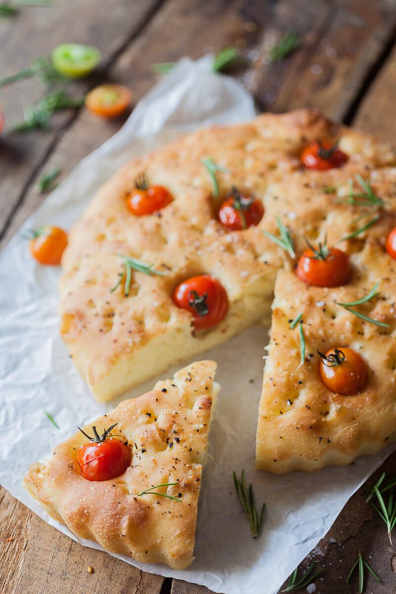 Cherry Tomato Vegan Focaccia Recipe | HeyFood — heyfoodapp.com