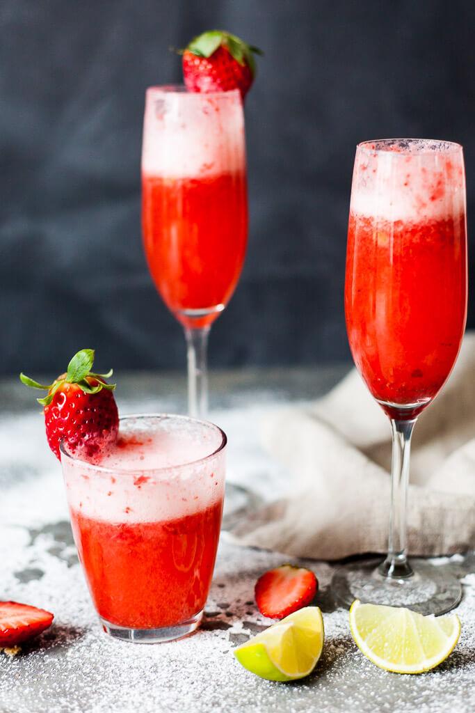 Valentine's Strawberry Champagne Recipe | HeyFood — heyfoodapp.com