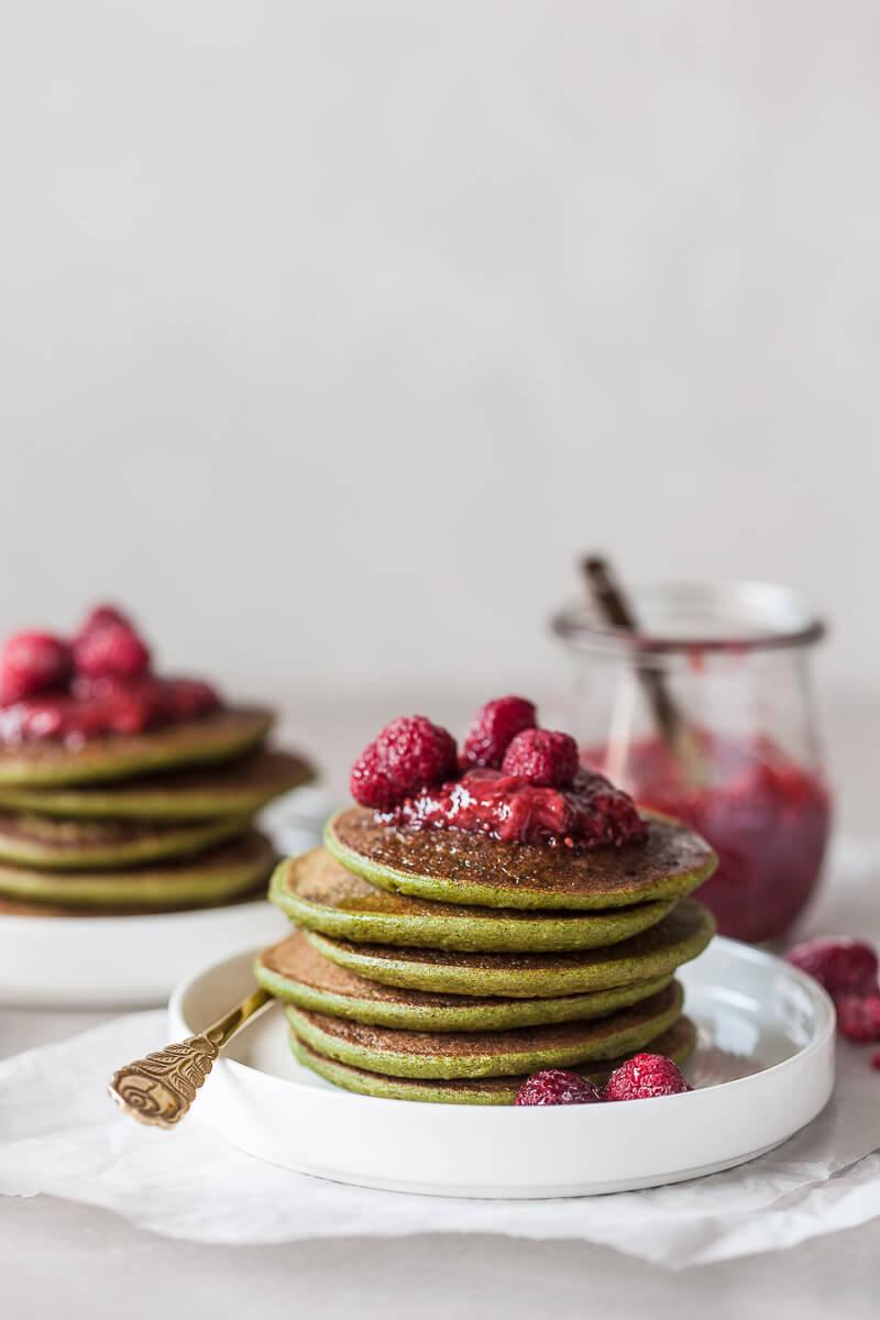 Vegan Spinach Blender Pancakes Recipe   HeyFood — heyfoodapp.com