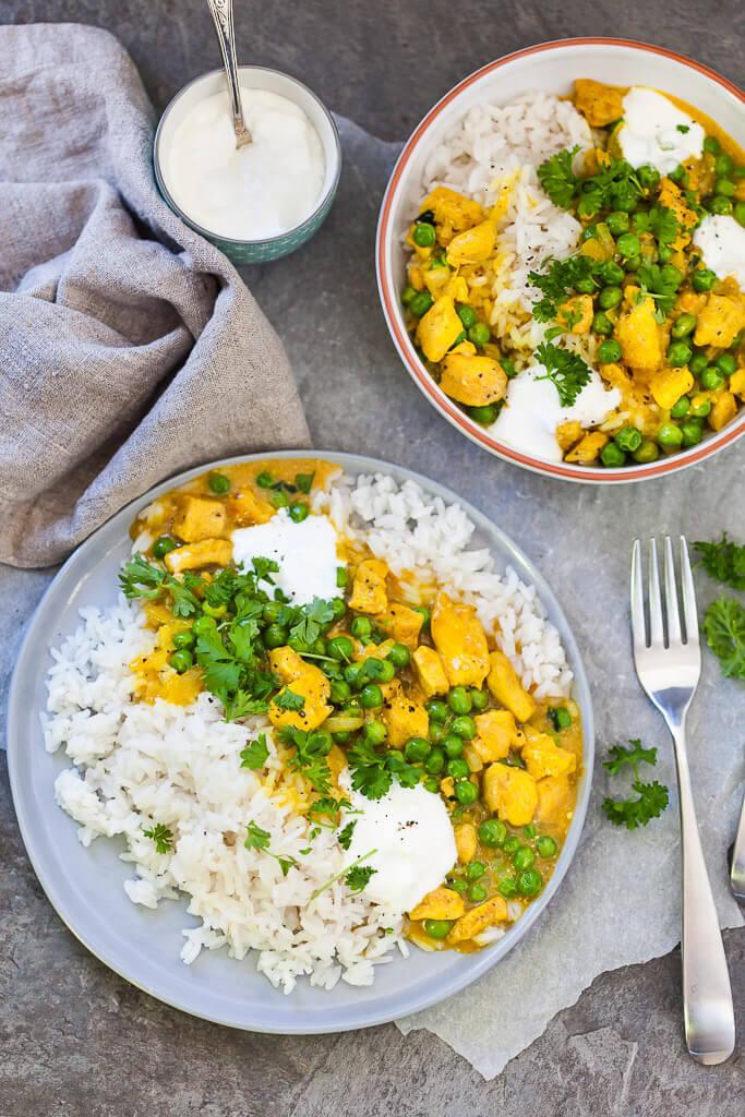 Easy Chicken Curry with Fluffy Rice Recipe | HeyFood — heyfoodapp.com
