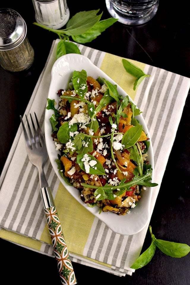 Grill Roasted Vegetables and Quinoa Salad Recipe   HeyFood — heyfoodapp.com