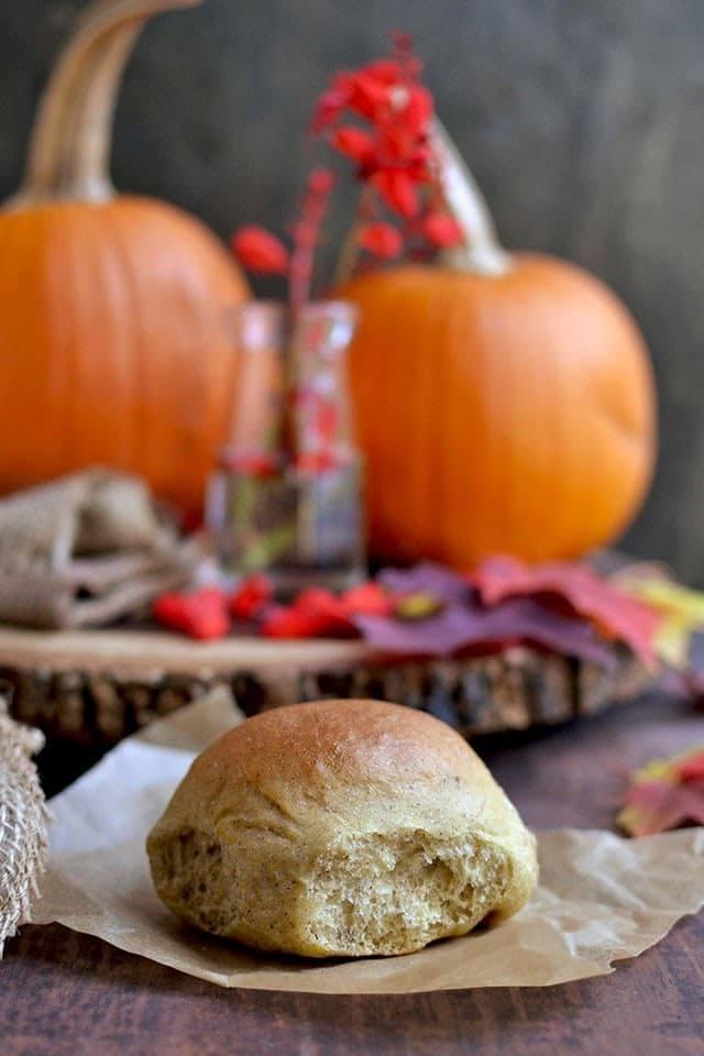 Pumpkin Dinner Rolls Recipe | HeyFood — heyfoodapp.com