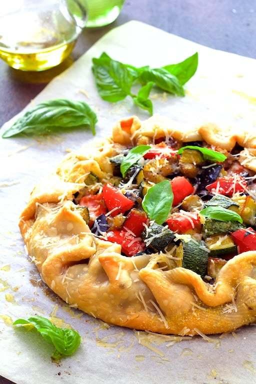 Mediterranean Roasted Vegetable Galette Recipe | HeyFood — heyfoodapp.com