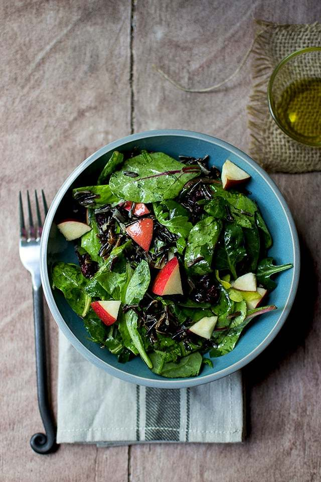 Wild Rice & Baby Greens Salad Recipe | HeyFood — heyfoodapp.com