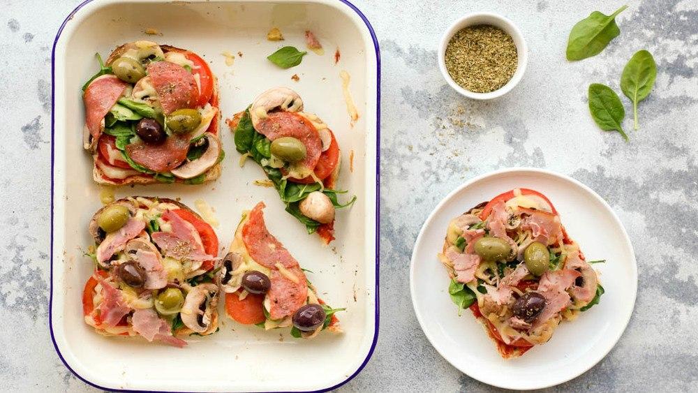 Healthy Pizza Toast Recipe | HeyFood — heyfoodapp.com
