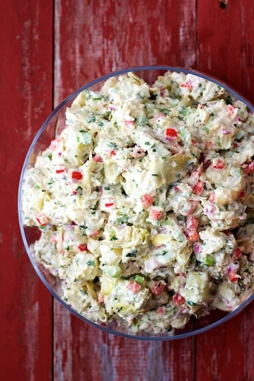 Potato - Artichoke Salad with Horseradish Dressing Recipe | HeyFood — heyfoodapp.com