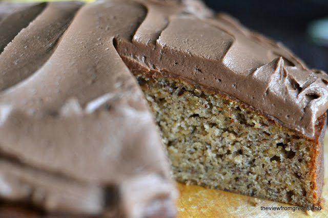 Banana Cake with Nutella Buttercream Recipe | HeyFood — heyfoodapp.com
