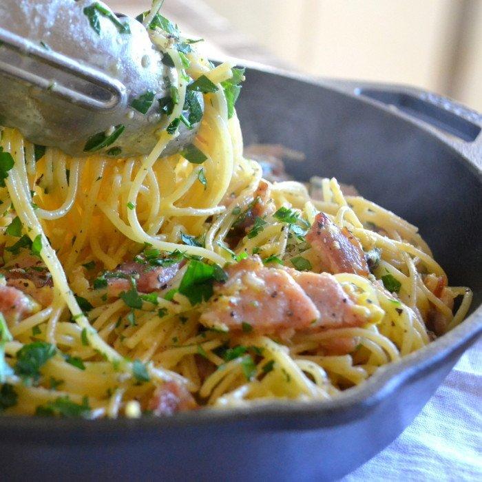 Breakfast Pasta Recipe | HeyFood — heyfoodapp.com