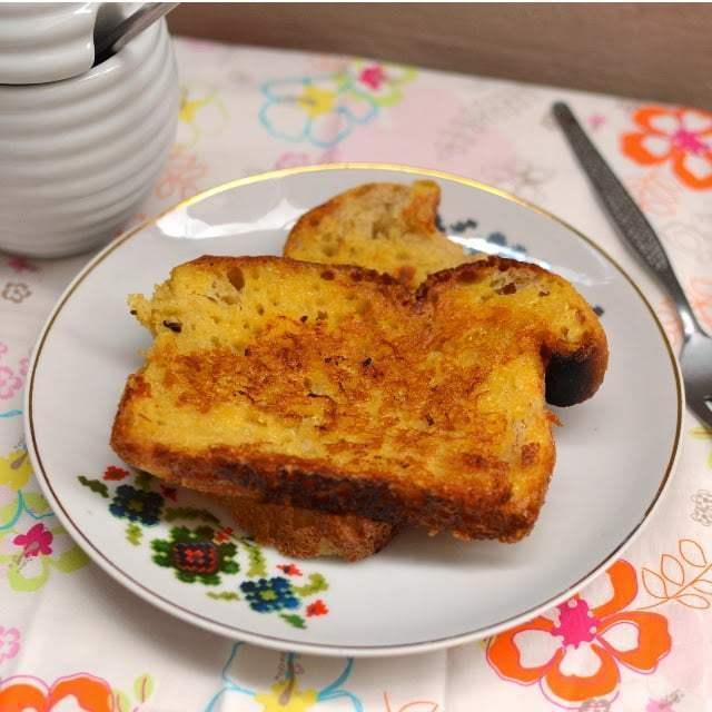 Eggless French Toast (with Custard powder) Recipe | HeyFood — heyfoodapp.com