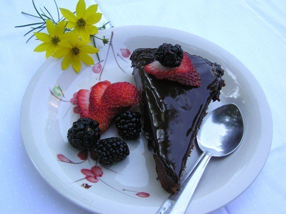 Chocolate Cake with Chocolate Ganache Recipe | HeyFood — heyfoodapp.com