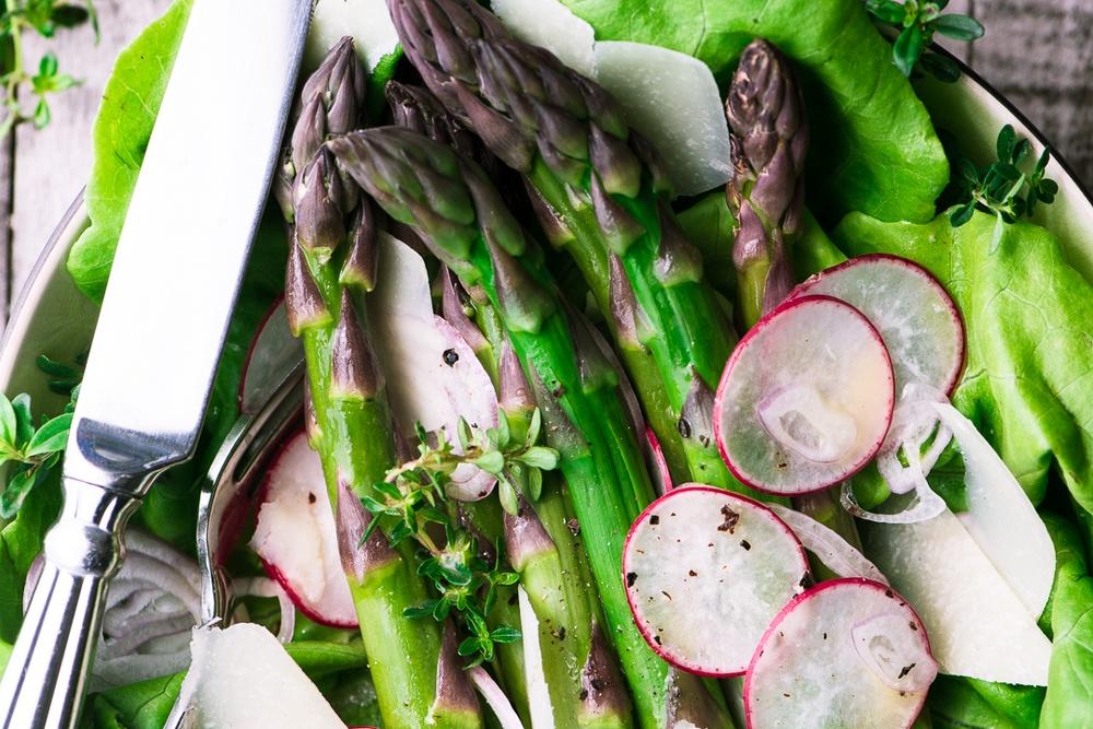 Asparagus Salad with Mimosa Vinaigrette Recipe   HeyFood — heyfoodapp.com