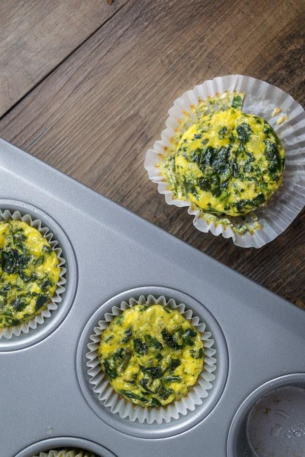 Spinach and Cheese Egg Muffins Recipe   HeyFood — heyfoodapp.com