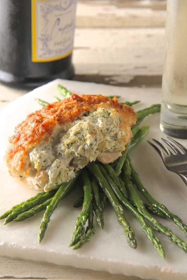 Crab-Stuffed Chicken Breasts Recipe | HeyFood — heyfoodapp.com
