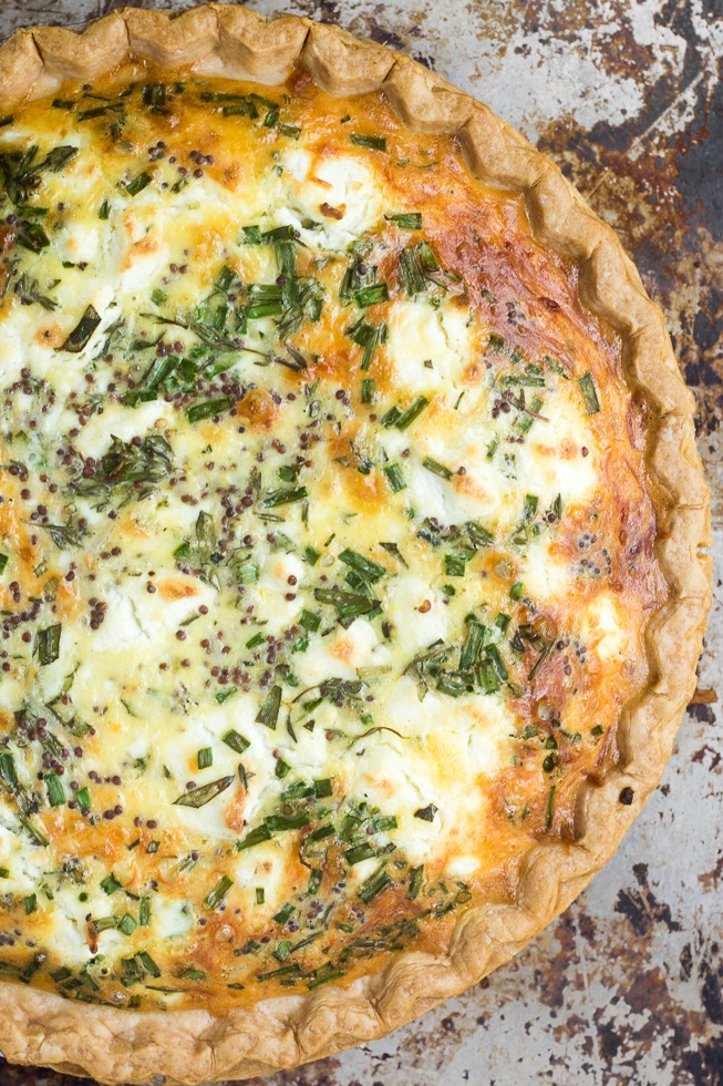 Sweet Onion and Herb Quiche Recipe | HeyFood — heyfoodapp.com