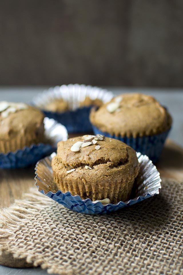 Almond Butter Chocolate Chip Muffins (Eggless Recipe) for #BreadBakers Recipe | HeyFood — heyfoodapp.com