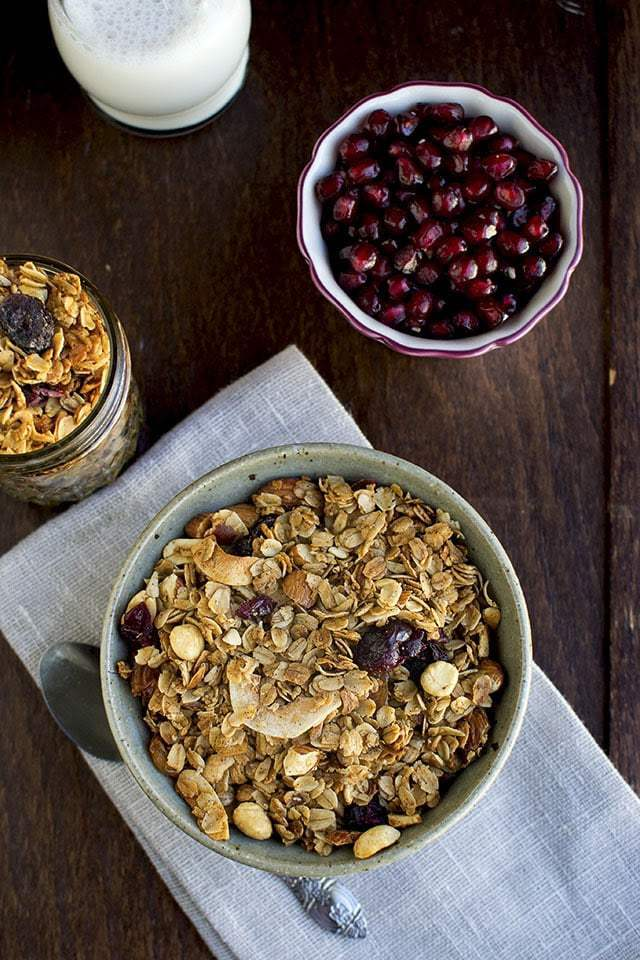 Granola with Cinnamon and Nuts Recipe | HeyFood — heyfoodapp.com