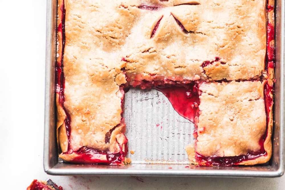 Raspberry Slab Pie Recipe   HeyFood — heyfoodapp.com