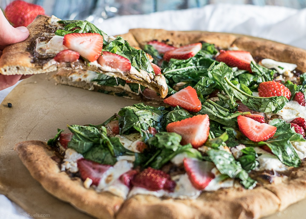 Strawberry Arugula Pizza Recipe | HeyFood — heyfoodapp.com