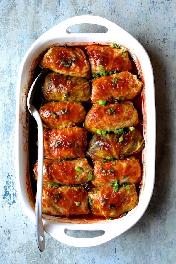 Spicy Asian Pork Cabbage Rolls Recipe | HeyFood — heyfoodapp.com