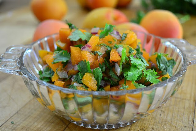 Apricot Salsa (on pork tenderloin) Recipe | HeyFood — heyfoodapp.com