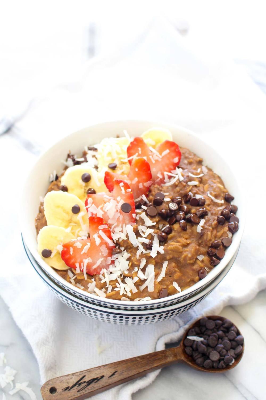 Chocolate Protein Oatmeal (no protein powder) Recipe   HeyFood — heyfoodapp.com