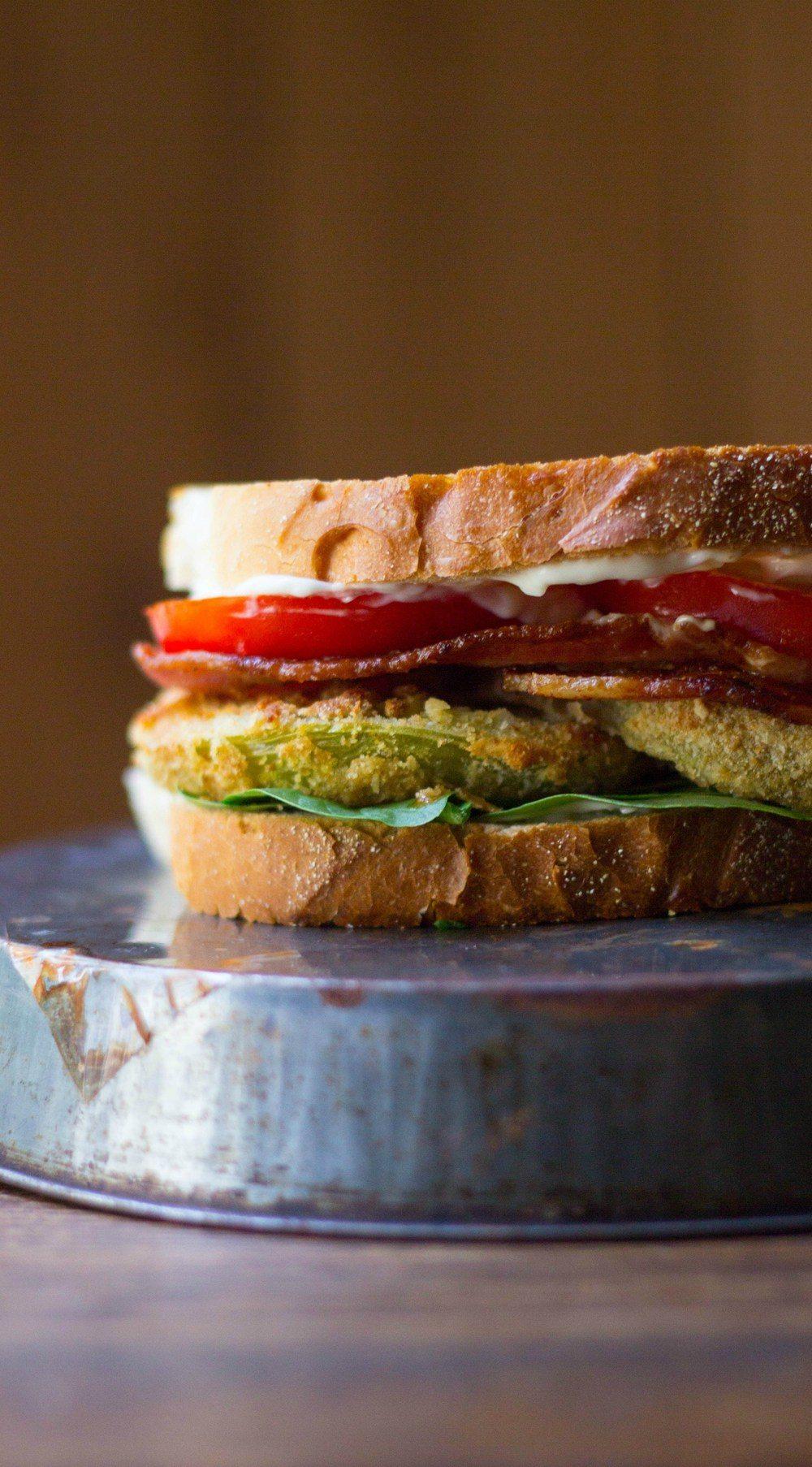 Fried Green Tomato BLTs Recipe | HeyFood — heyfoodapp.com