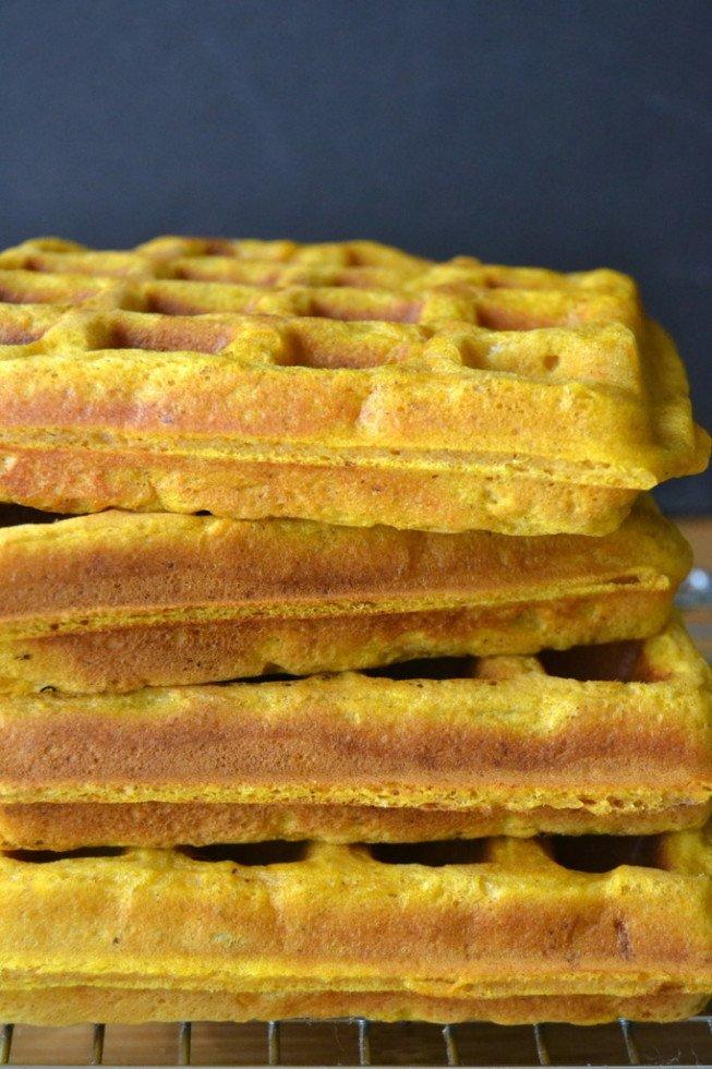 Pumpkin Spice Toaster Waffles Recipe | HeyFood — heyfoodapp.com