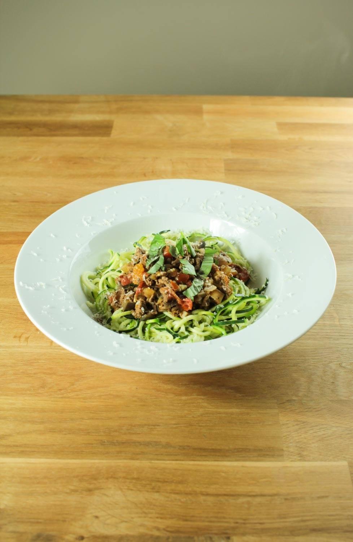 Courgetti with One Pot Ragu Recipe | HeyFood — heyfoodapp.com