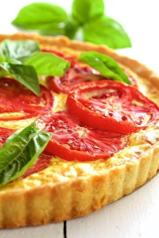Tomato Ricotta Tart with Basil Pesto Recipe   HeyFood — heyfoodapp.com