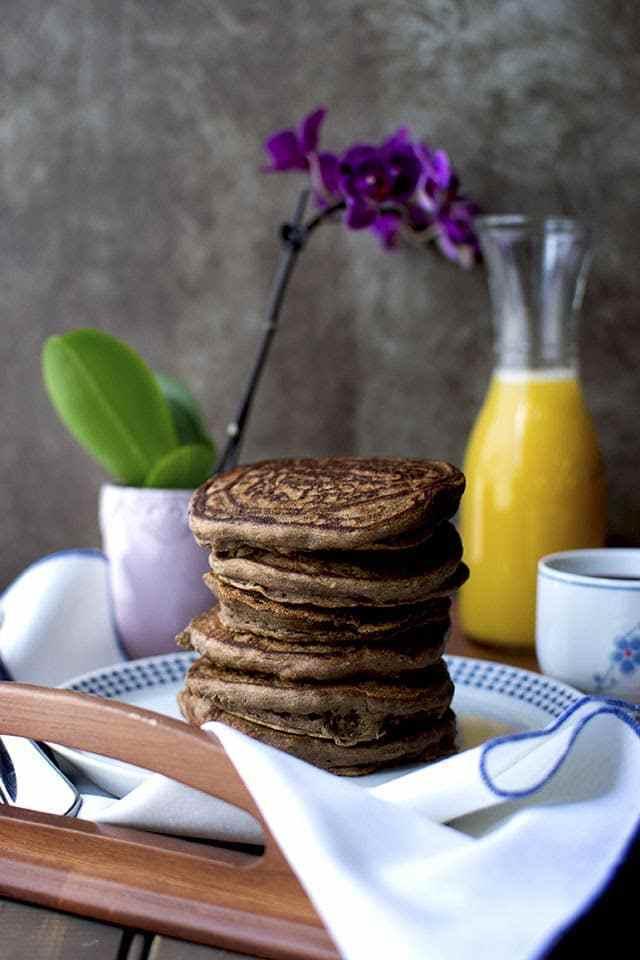 Chocolate Banana Pancakes Recipe | HeyFood — heyfoodapp.com