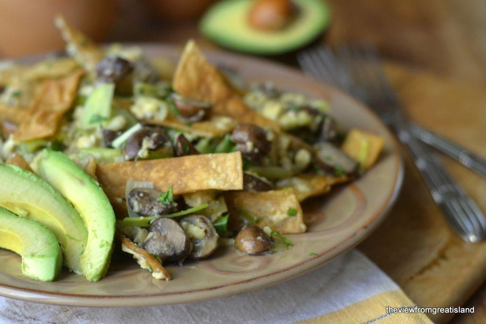 Mushroom & Leek Migas  Recipe | HeyFood — heyfoodapp.com