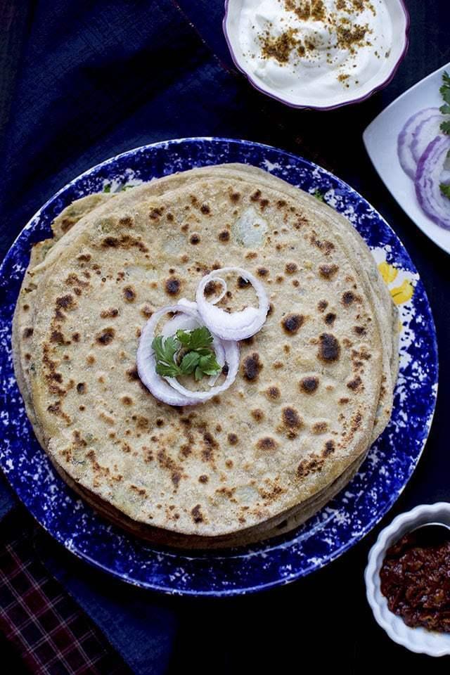 Aloo-Methi Paratha Recipe | HeyFood — heyfoodapp.com