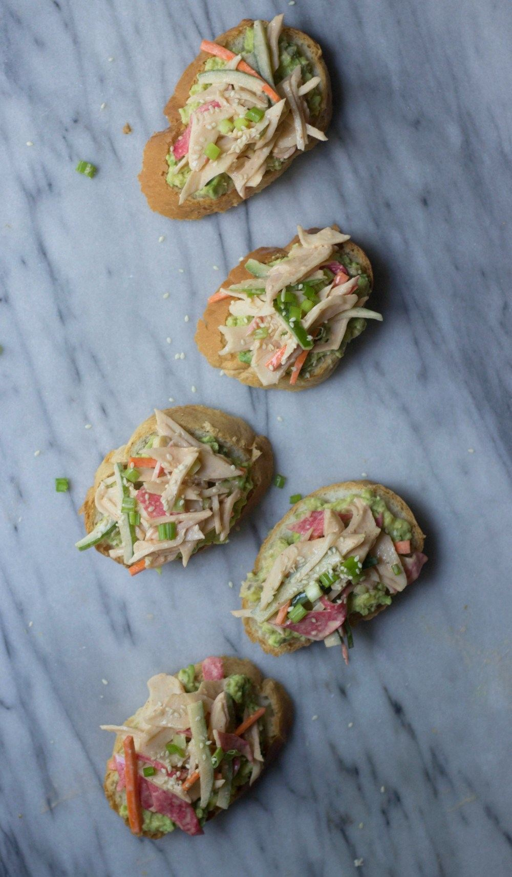 Asian Crab Salad Avocado Toast Recipe | HeyFood — heyfoodapp.com