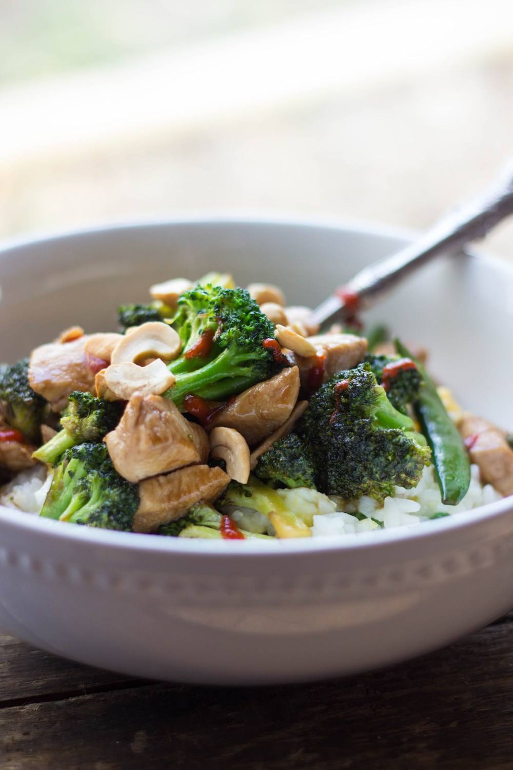 Cashew Chicken & Broccoli Stir Fry Recipe | HeyFood — heyfoodapp.com