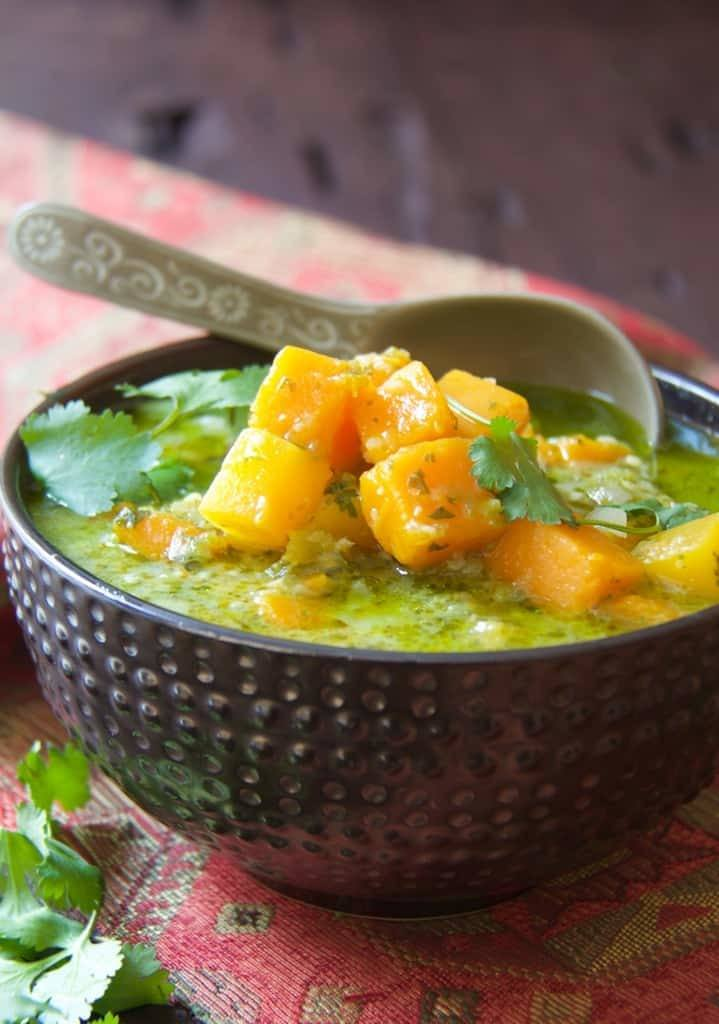 Butternut Squash in Fresh Green Curry Recipe | HeyFood — heyfoodapp.com