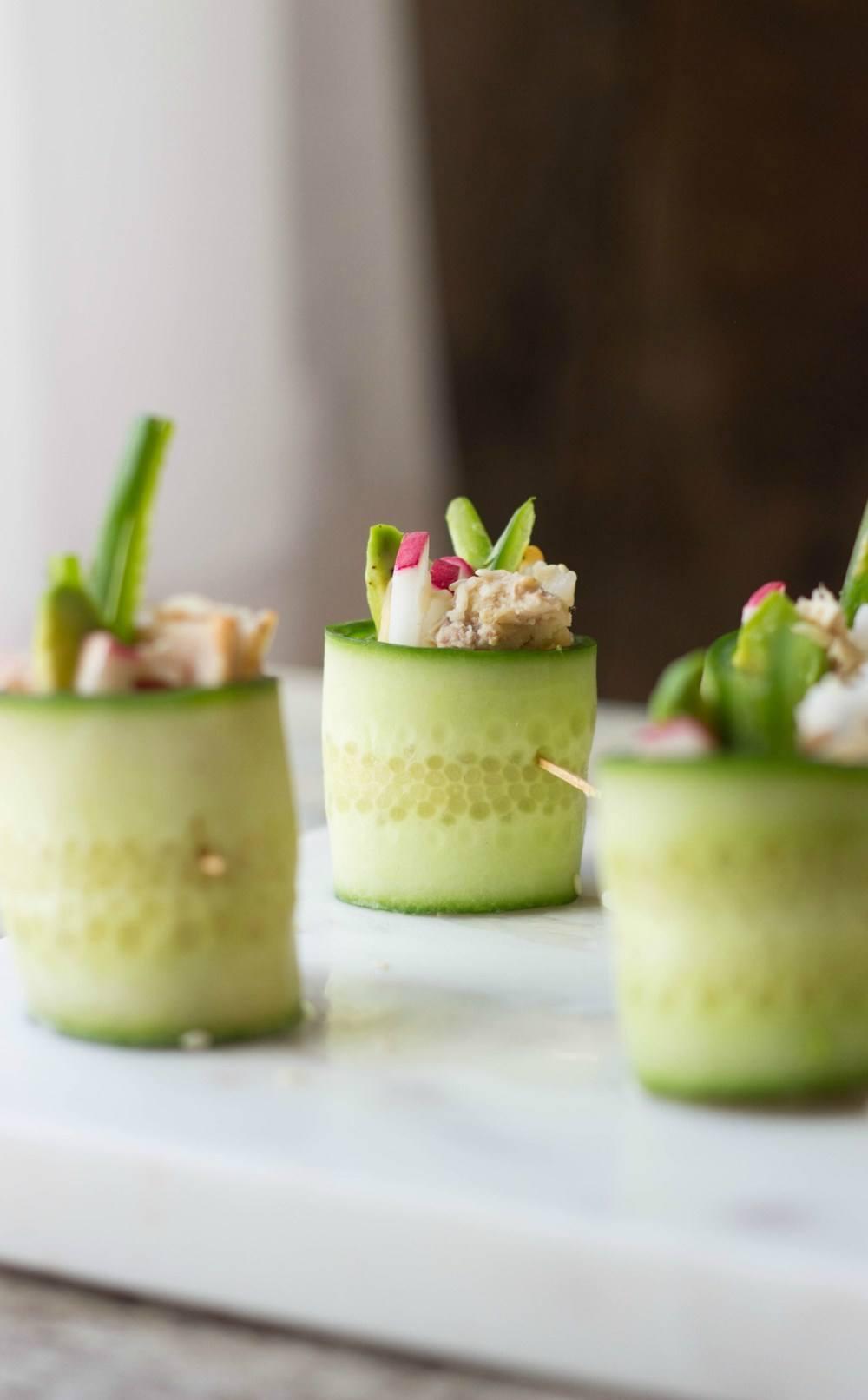 Spicy Tuna Cucumber Sushi Rolls Recipe   HeyFood — heyfoodapp.com