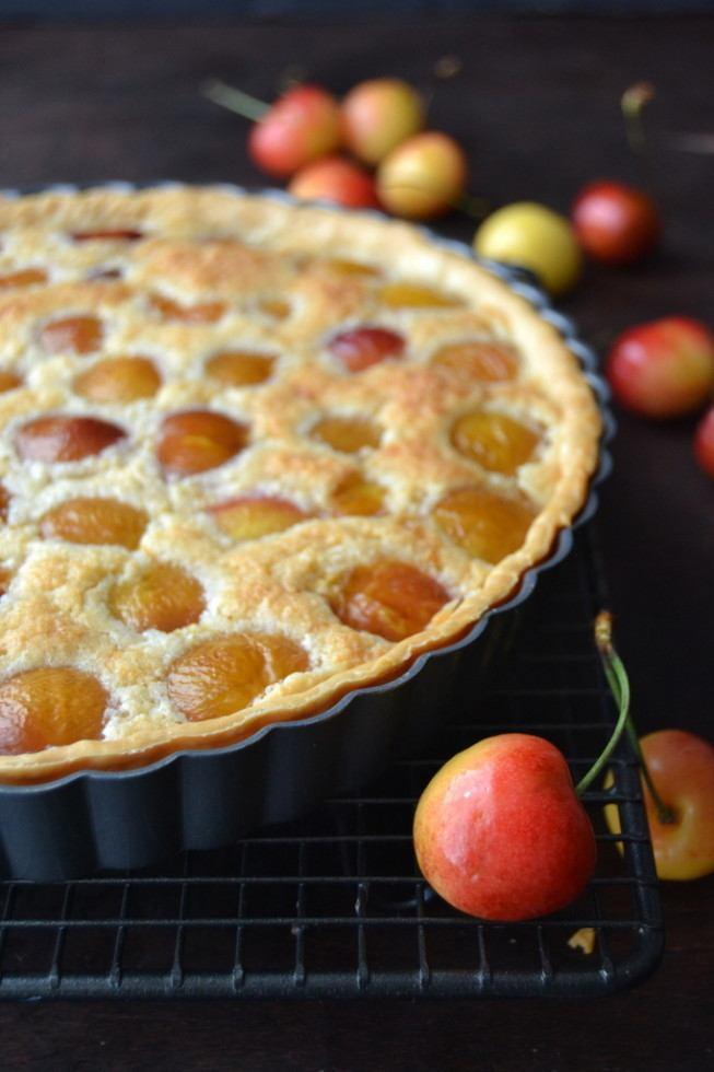 Rainier Cherry Almond Tart Recipe | HeyFood — heyfoodapp.com