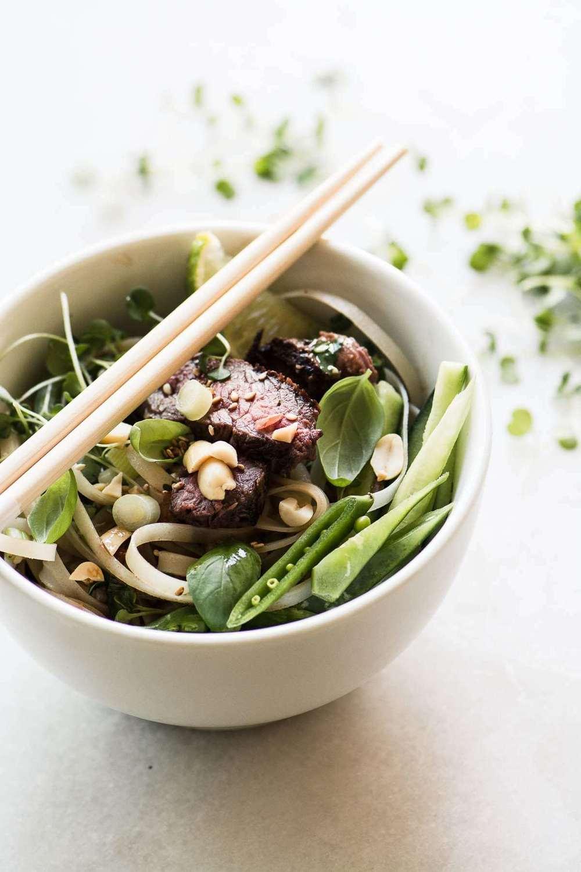 Steak Pad Thai Salad Recipe   HeyFood — heyfoodapp.com