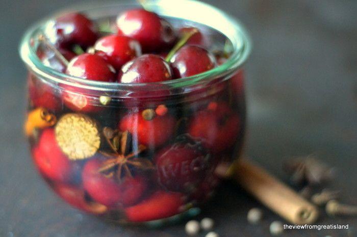 Holiday Spiced Cocktail Cherries Recipe   HeyFood — heyfoodapp.com