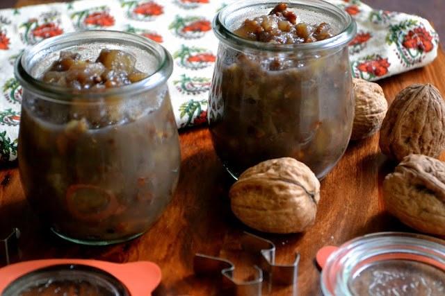 Spiced Pear and Walnut Chutney Recipe   HeyFood — heyfoodapp.com