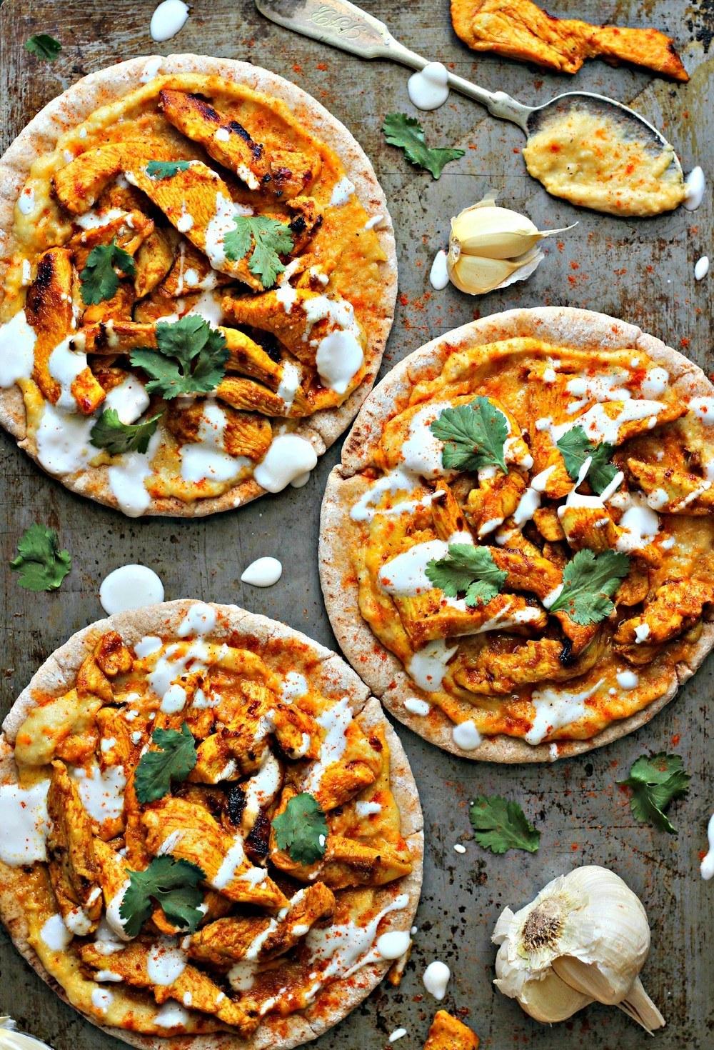 Chicken Shawarma with Hummus & Pita Recipe | HeyFood — heyfoodapp.com